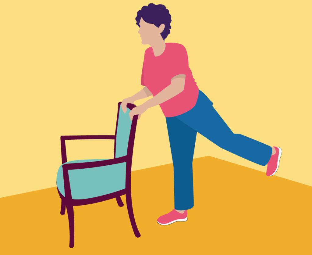 Exercises for Seniors - Back Leg Raises