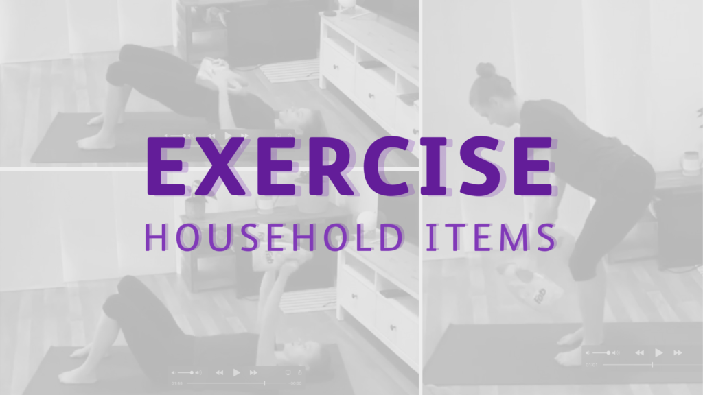 Equipment substitutes – using household items to exercise