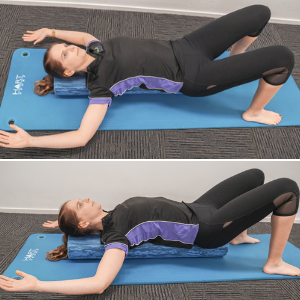 Chest Stretch - Lying chest over foam roller​