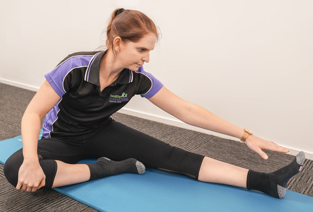 Hamstring Stretch - Seated hamstring (on floor)​